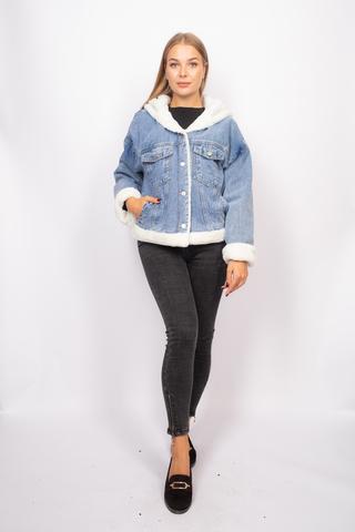 джинсовая куртка с мехом с капюшоном интернет-магазин