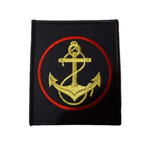 Шеврон нарукавный Морская пехота (черный, красный кант)