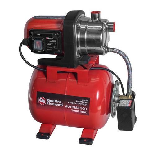 Насосная станция QUATTRO ELEMENTI Automatico 1000 Inox (1000 Вт, 3600 л/ч, для чистой, 45 м, 8,3кг) (771-534)