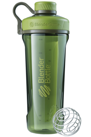BlenderBottle Radian Tritan, 946мл 2в1 Шейкер и Бутылка с венчиком для спорта_Moss_Green-оливковый 946 мл cat