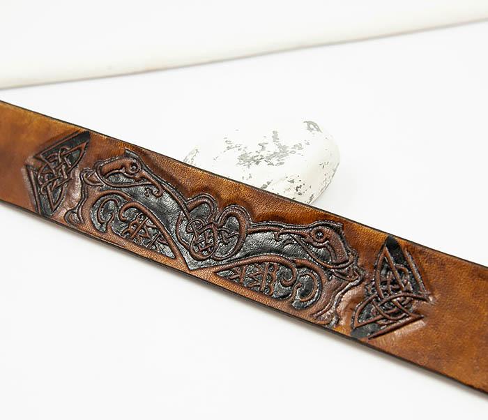 BL479 Мужской кельтский браслет «Птицы» ручной работы фото 03