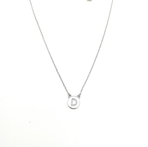 76501- Колье из серебра с подвеской буквой