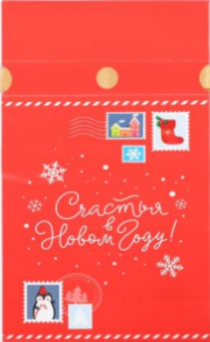 060-0034 Мешок подарочный «Счастья в Новом году!», 15 × 23 см