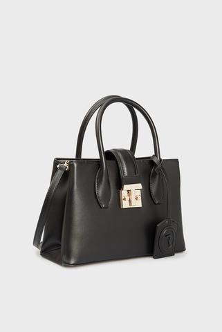 Женская черная сумка PRE TULIP TOTE SM SMOOTH PU Trussardi