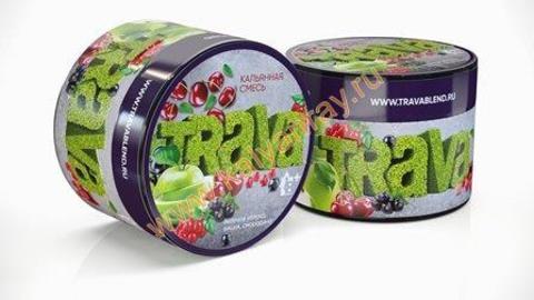 Кальянная смесь Trava - Зеленое яблоко, Вишня, Смородина