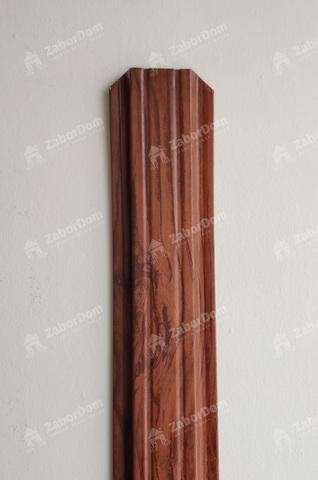 Евроштакетник металлический 85 мм Темное дерево 3D П - образный 0.5 мм