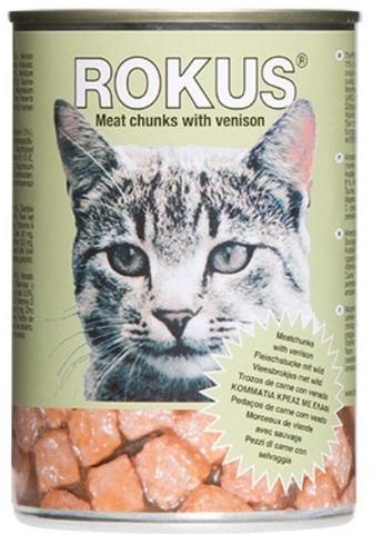 Корм «Rokus» консерв. кусочки оленины 410г