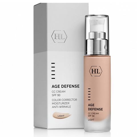 Holy Land Age Defense: Корректирующий крем для лица, светлый оттенок (CC Cream Light SPF50)