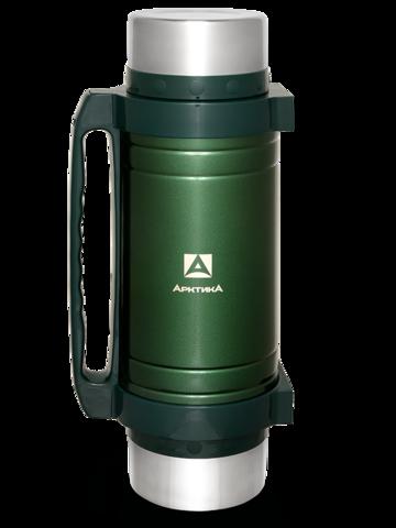 Термос универсальный (для еды и напитков) Арктика (3 литра) с супер-широким горлом, зеленый