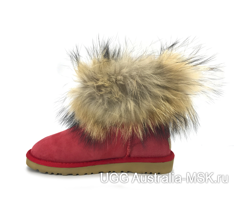 UGG fox fur mini Red