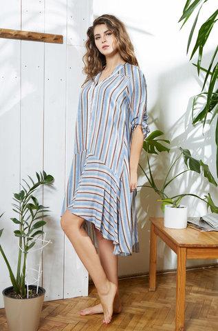 Рубашка туника женская  MIA-MIA Noemi Ноеми 16412 голубой