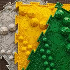 Массажный коврик Футбол средний по жесткости модульный коврик-пазл