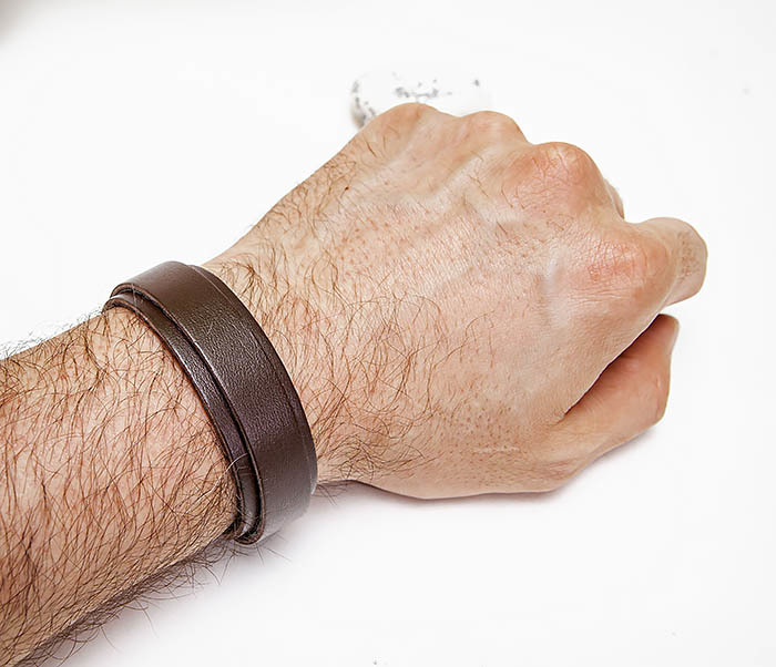 BL805-2 Мужской браслет ручной работы из коричневой кожи фото 05