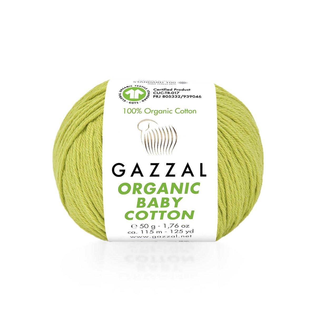 Пряжа Gazzal Organic Baby Cotton 426 фисташка