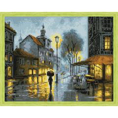 Aлмазная мозаика Дождь в городе