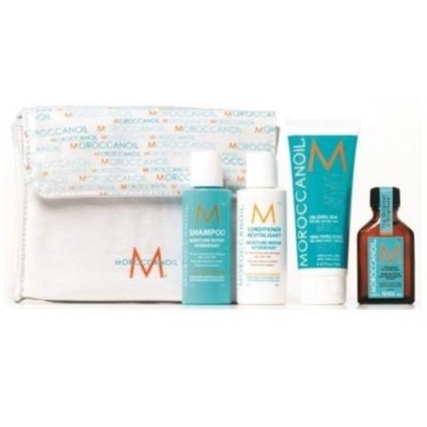 Moroccanoil Наборы: Средство восстанавливающее для всех типов волос, шампунь, кондиционер, маска увлажняющая, 25мл+ 2*70мл+ 70мл
