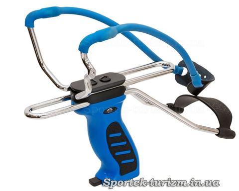 Рогатка Man Kung MK-SL06BL синяя с упором