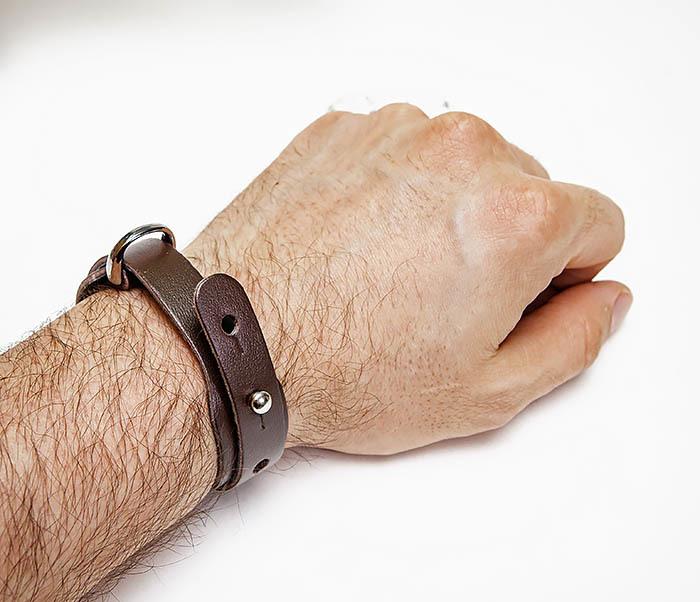 BL805-2 Мужской браслет ручной работы из коричневой кожи фото 06