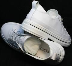 Женские туфли летние кроссовки без шнурков El Passo sy9002-2 Sport White.