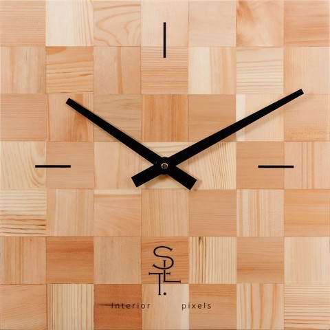 Настенные часы Салют SLT 5197  CHESS WOOD
