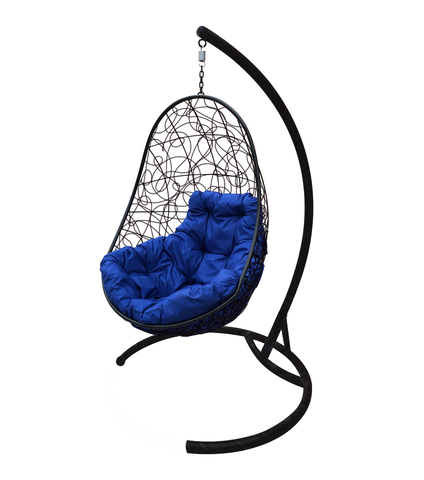 Кресло подвесное Parma black/blue