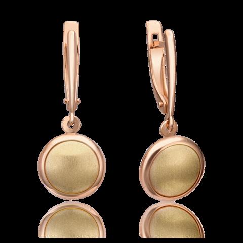 02-4366-00-000-1113-64- Серьги из комбинированного золота с круглыми подвесками