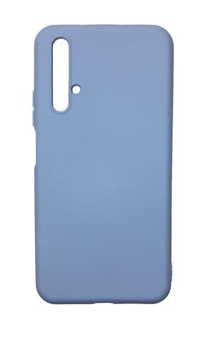 Чехол для Huawei Honor 20/Nova 5T Софт тач мягкий эффект   микрофибра светло-фиолетовый