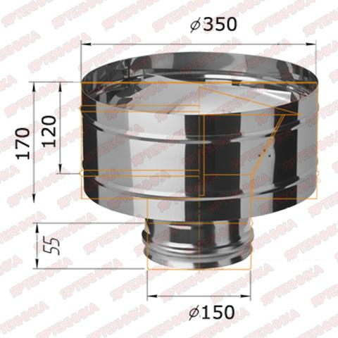 Дефлектор-Д d150мм (430/0,5 мм) Ferrum