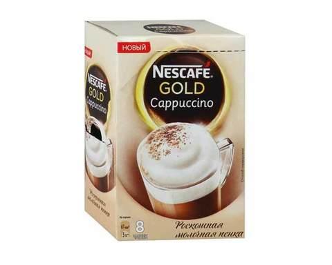 Напиток кофейный Nescafe Gold Cappuccino 8 пак/уп, (Нескафе)