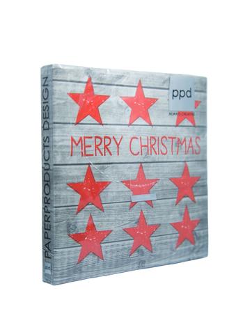 Салфетки столовые Рождественские звезды Xmas Wood