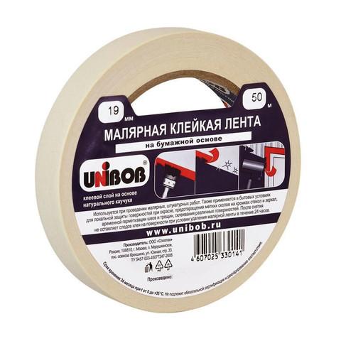 Клейкая лента малярная Unibob 19мм х 50м