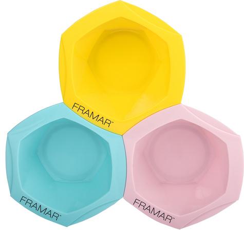Tropic Vibes Connect & Color Bowls | Соединяющиеся миски для окрашивания «Тропические грезы» 3 шт