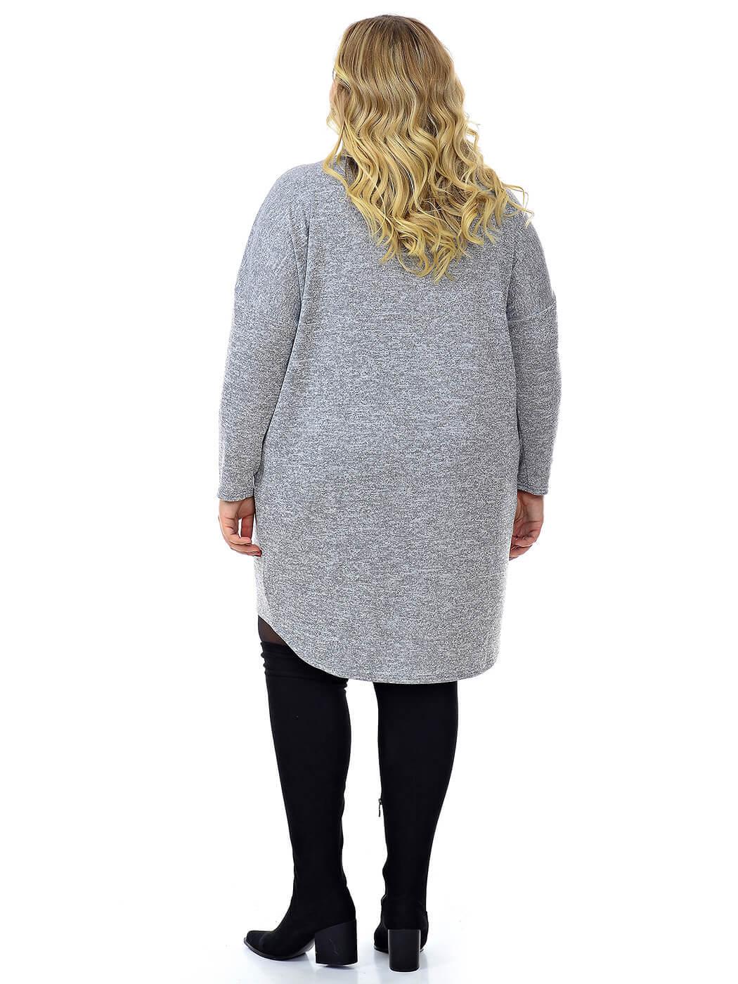 Платье-туника из джерси меланж