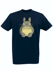 Футболка с принтом Мой сосед Тоторо (Totoro) темно-синяя 002