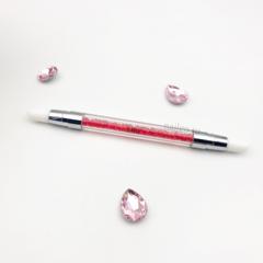 Кисть силиконовая розовая