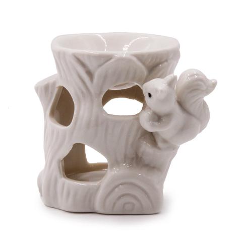 Аромалампа  Белочка на пеньке 9см Керамика глазурь