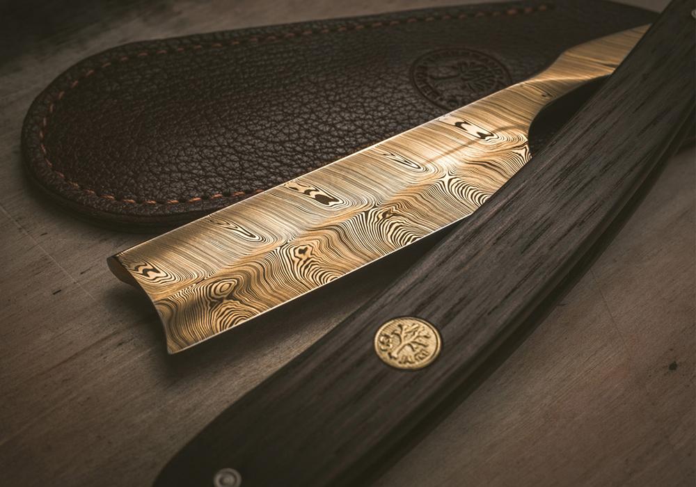 Бритва опасная Boker 140250DAM Anniversary 150 Damascus Gold 6/8 - фотография