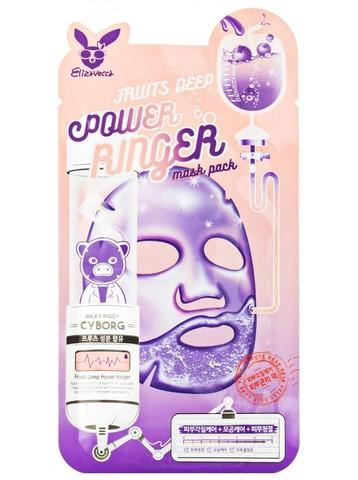 ELIZAVECCA Ткан. маска д/лица Фруктовая FRUITS DEEP POWER Ringer mask pack, 1шт