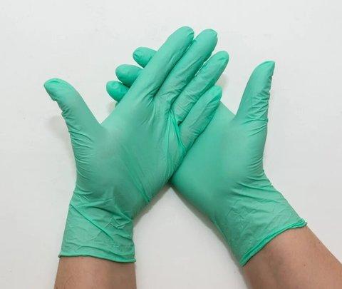 Перчатки нитриловые UNEX 100 шт, M, зеленые