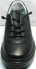 Женские черные кожаные кроссовки без шнурков Rozen M-520 All Black.