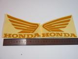 Наклейки на бак Honda жёлтые крылья