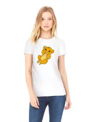 Футболка с принтом мультфильма Король лев (The Lion King, Симба) белая w0013