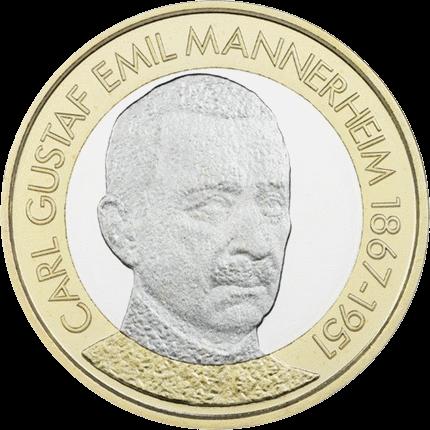"5 евро 2017 год Финляндия ""Карл Густав Эмиль Маннергейм"""