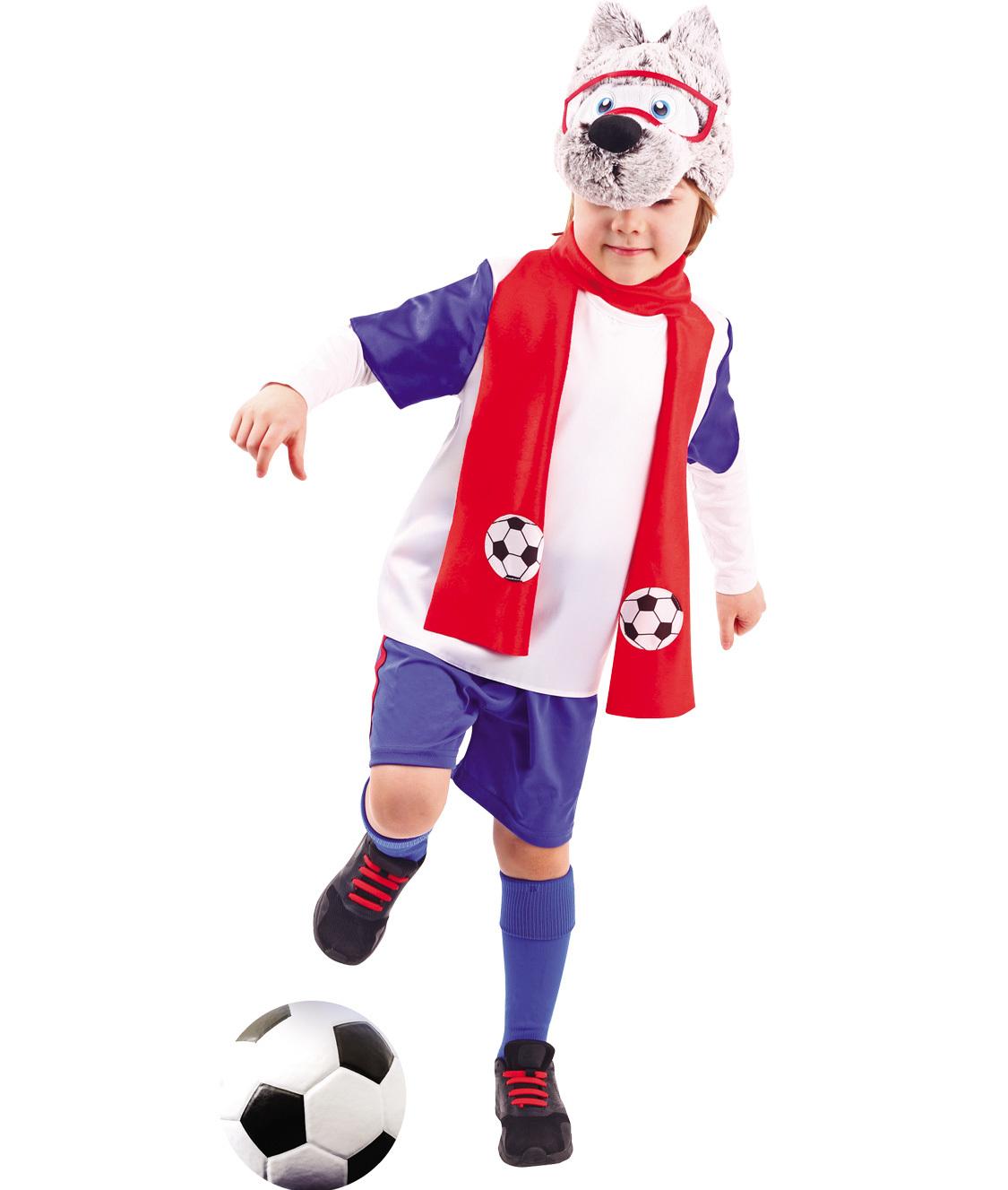 Карнавальный костюм  Волчонок футболист