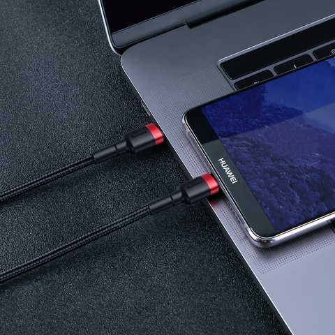 Кабель Baseus Cafule Series Type-C PD2.0 60W Flash charge Cable(20V 3A) 1M Red black