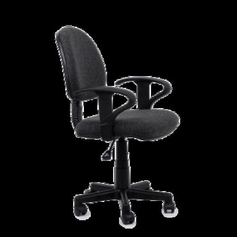 Кресло для персонала темно серая ткань (Престиж Люкс)