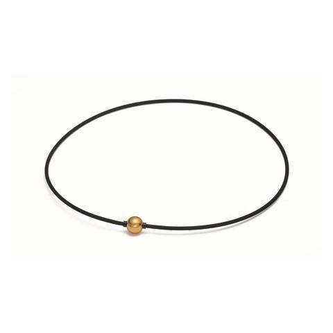 Ожерелье PHITEN RAKUWA NECKLACE EXTREME METAX MIRROR BALL LIGHT (золотой)