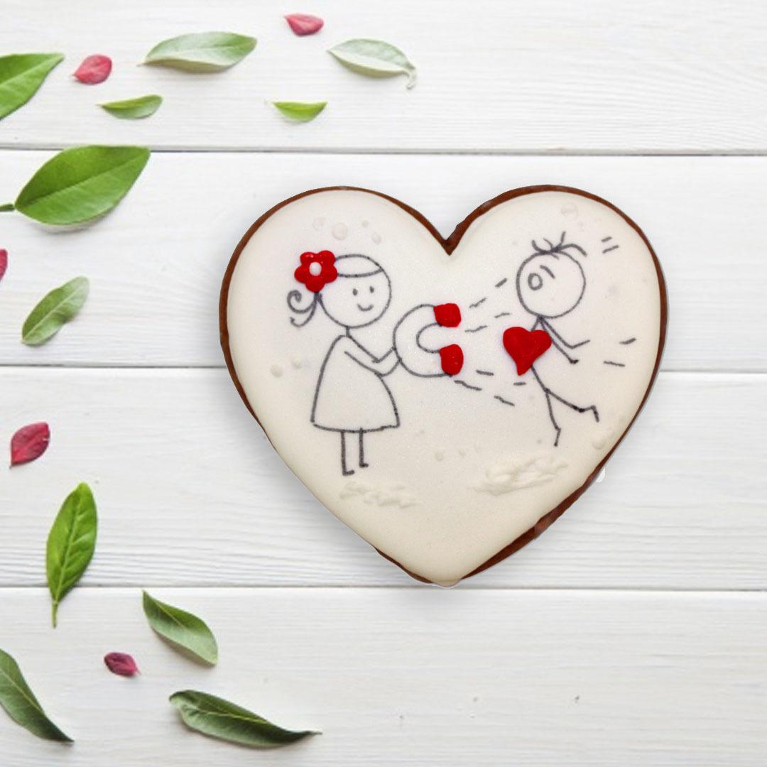 Фотография Пряник «Сердце №7» / 50 гр купить в магазине Афлора