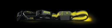 Ошейники Ошейник для собак, Hunter LED Manoa Glow S (45-50)/2,5, желтый 93108.jpg