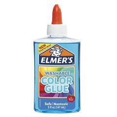 Клей для слайма Elmer's Color Glue голубой прозр 147 мл